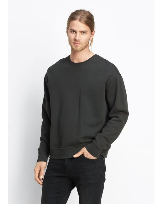 Vince | Gray Seamed Crew for Men | Lyst