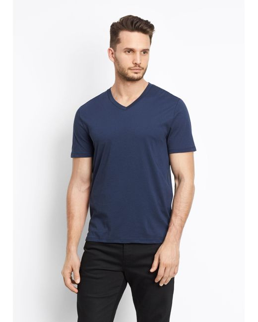 Vince | Blue V-neck Tee for Men | Lyst