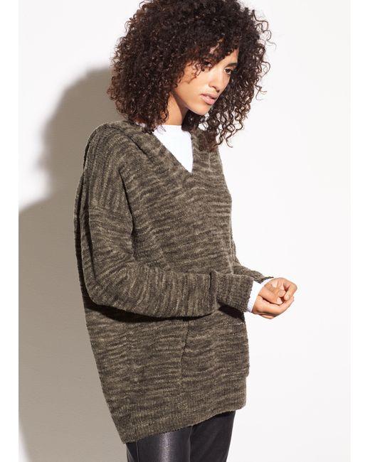 Vince | Multicolor Spacedye Wool Bouclé Hoodie | Lyst