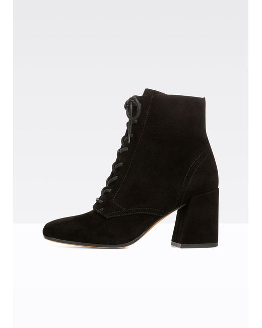 Vince | Black Halle Suede Boot | Lyst