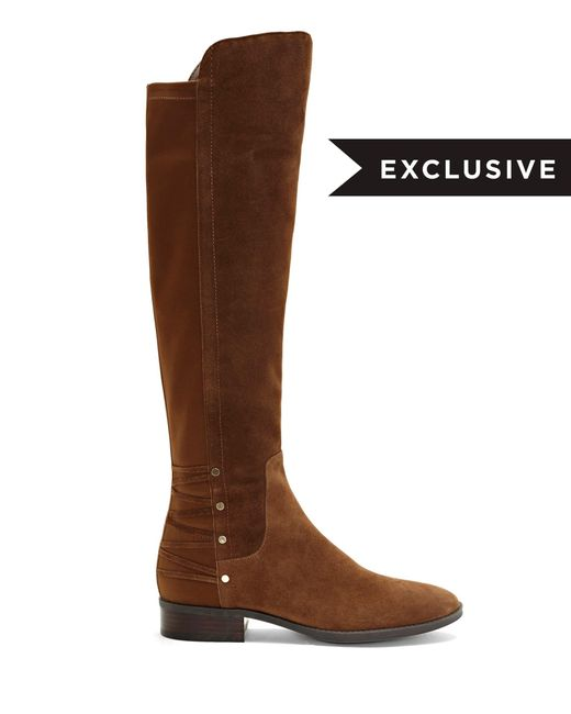 9235ad1a949 ... Vince Camuto - Brown Phadina – Corset-back Boot - Lyst ...