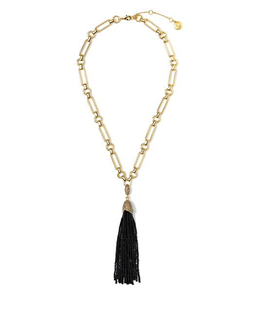 Vince Camuto | Metallic Beaded Tassel Necklace | Lyst