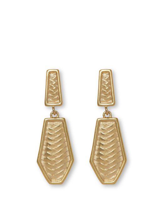Vince Camuto - Metallic Herringbone Clip-on Earrings - Lyst