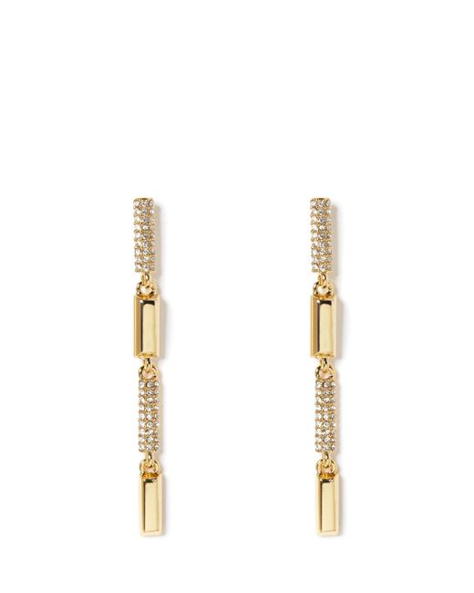Vince Camuto | Metallic Goldtone Pavé-accent Linear Earrings | Lyst