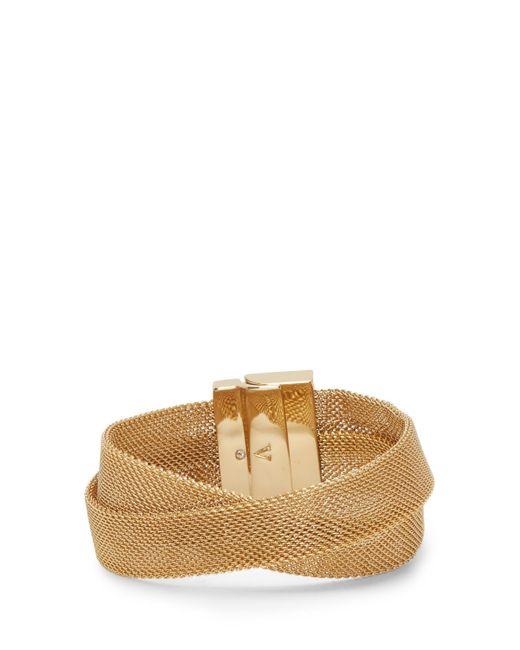 Vince Camuto - Metallic Mesh Crisscross Bracelet - Lyst