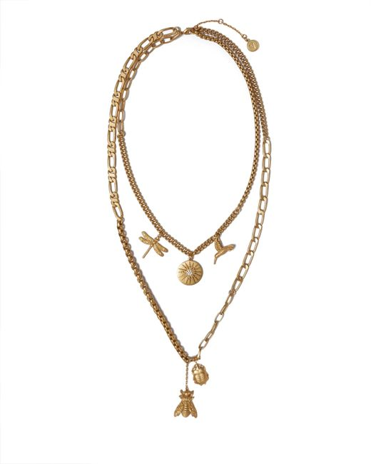 Vince Camuto - Metallic Mixed-chain Charm Necklace - Lyst