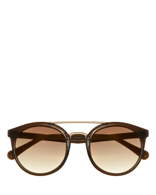 Vince Camuto - Brown Brow Bar Sunglasses - Lyst