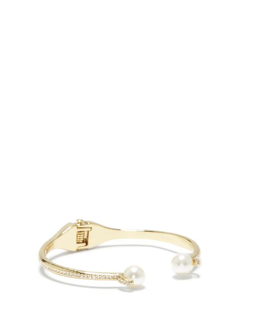 Vince Camuto | Metallic Goldtone Faux Pearl-tip Cuff | Lyst