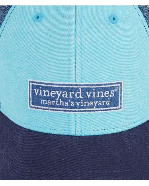 3a215ca3a64 Vineyard Vines Low Profile Tonal Classic Logo Trucker Hat in Blue ...