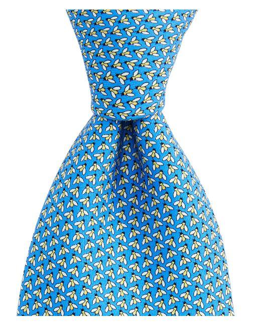 Vineyard Vines Blue Bees Printed Neck Tie for men