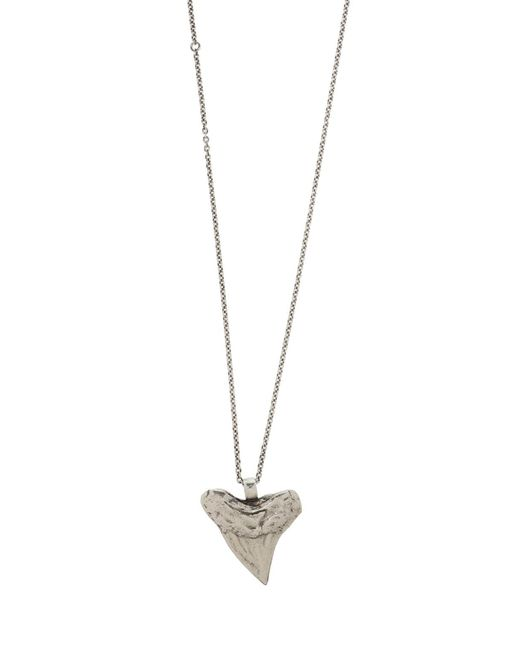 Saint Laurent - Metallic Necklace With A Charm - Lyst