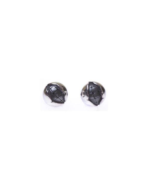 Bottega Veneta - Metallic Round Silver Earrings - Lyst