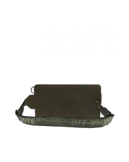 77c480e5c46 Lyst - Off-White c o Virgil Abloh Logo Shell Belt Bag in Green for ...
