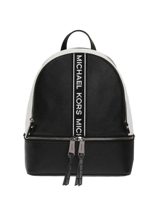 e0f3b2f89a5e Michael Kors - Black  rhea Zip  Backpack - Lyst ...