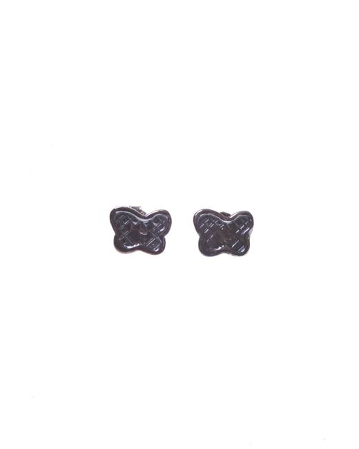 Bottega Veneta - Metallic Silver Butterfly Earrings - Lyst