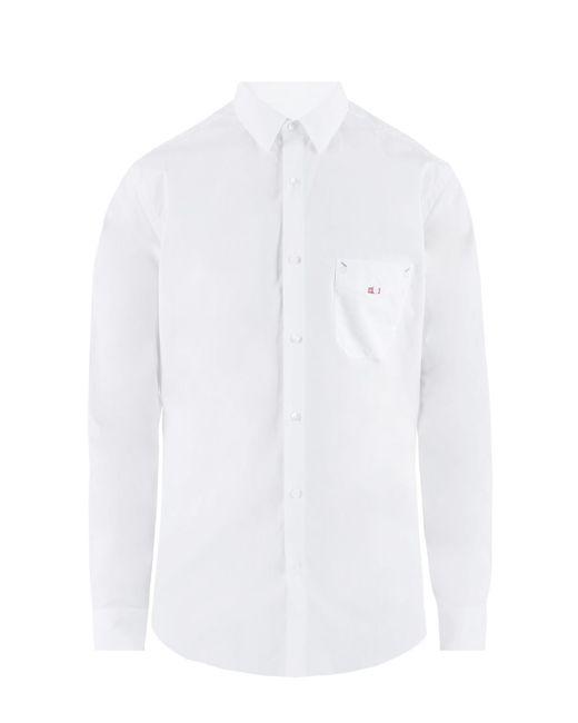 Fendi - White Embroidered Shirt for Men - Lyst