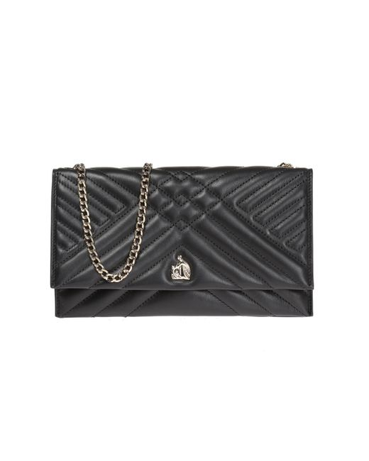 Lanvin - Black 'sugar' Wallet On Chain - Lyst