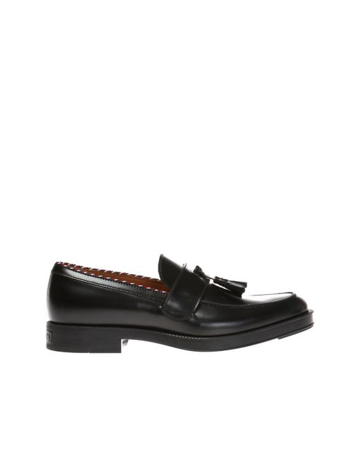 c84bb916e Gucci - Black Fringed Loafers for Men - Lyst ...