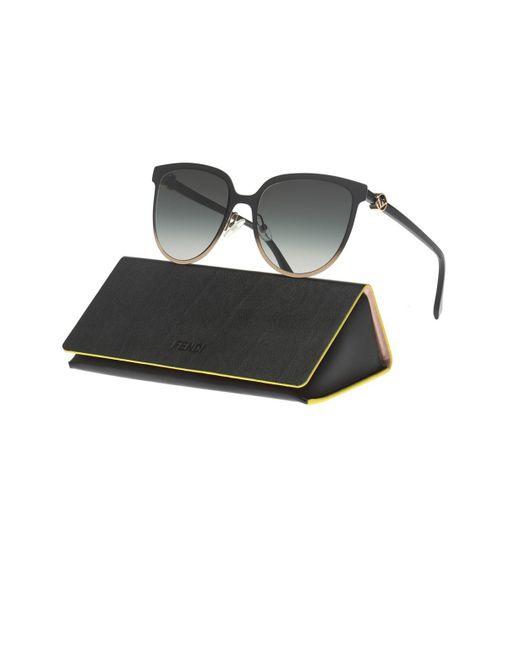 44077c07e9 ... Fendi - Black Appliquéd Sunglasses - Lyst ...