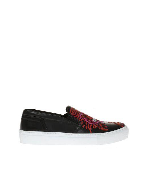 KENZO - Black 'géo-tiger X Rainbow' Slip-on Sneakers - Lyst