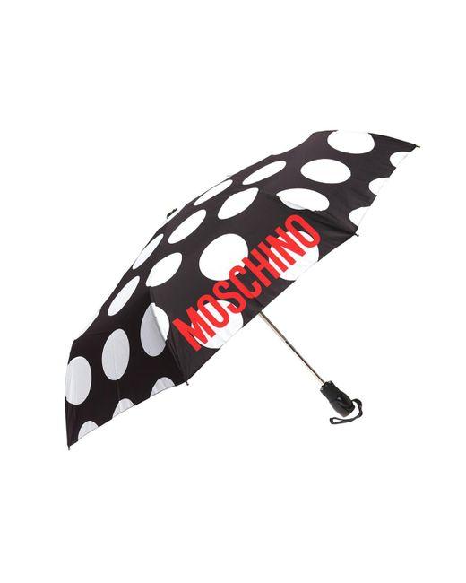 Moschino - Black Logo-printed Umbrella - Lyst