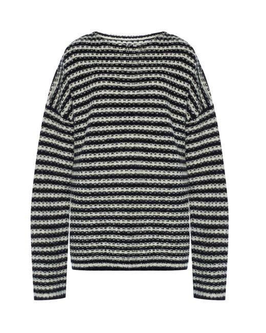 AllSaints - Black 'abigail' Oversize Sweater - Lyst