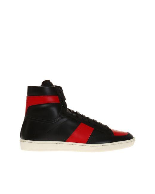 Saint Laurent - Black 'court Classic' High-top Sneakers for Men - Lyst