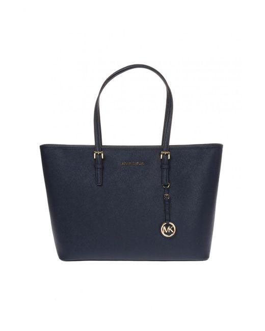 9598021e078b98 Michael Kors - Blue 'jet Set Travel' Shopper Bag - Lyst ...