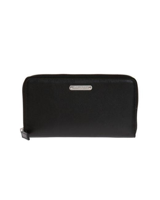 2fba466739859 Saint Laurent - Black Wallet With Metal Insert for Men - Lyst ...