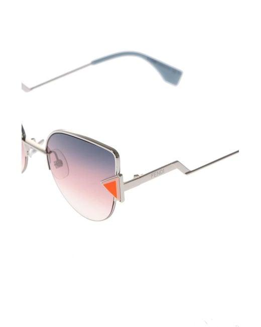 2cfdd4a060c ... Fendi - Metallic  rainbow  Sunglasses - Lyst