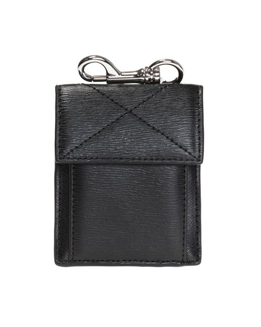 Versus  - Black Card Case With Key Ring - Lyst
