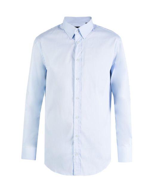 Emporio Armani - Blue Cotton Shirt for Men - Lyst