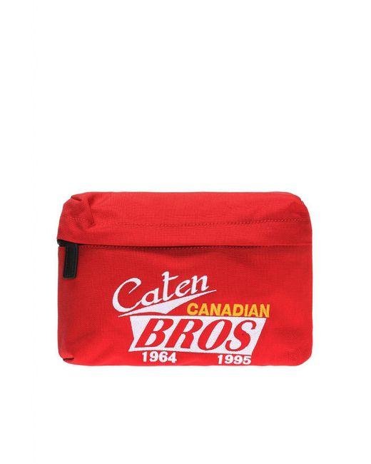 DSquared² - Lettering-embroidered Belt Bag for Men - Lyst