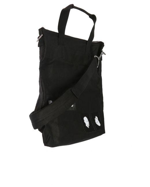 ... Rick Owens Drkshdw - Black Patched Shopper Bag for Men - Lyst ... ef01e28dce1ae