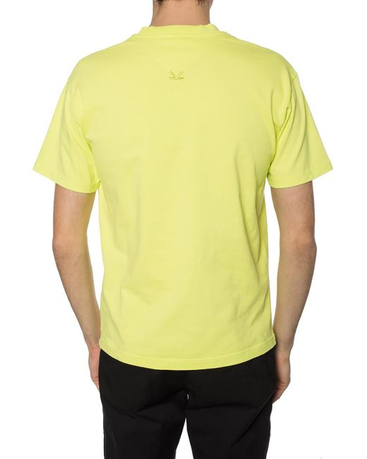 e9c661a5d5b0 KENZO Yellow Rose Crest Skate T-shirt in Yellow for Men - Save 11 ...