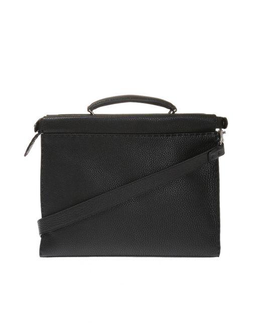 79b9cd742ba2 Fendi - Black Leather Briefcase for Men - Lyst ...