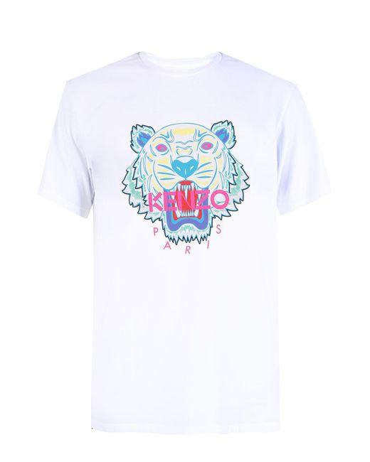 KENZO - White Tiger Head T-shirt for Men - Lyst