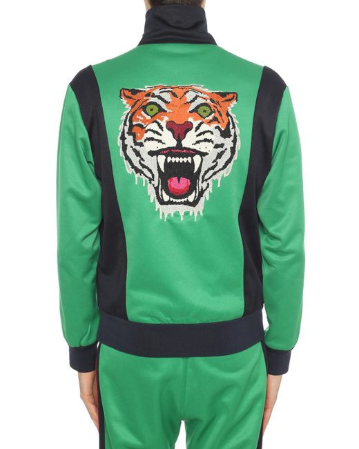 6acbe3b3aaa ... Gucci - Green Embroidered Back Sweatshirt for Men - Lyst ...