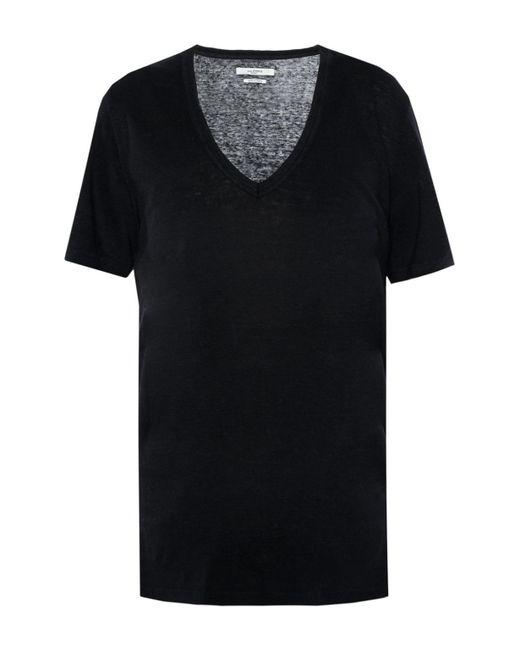 Étoile Isabel Marant - Black V-neck T-shirt - Lyst
