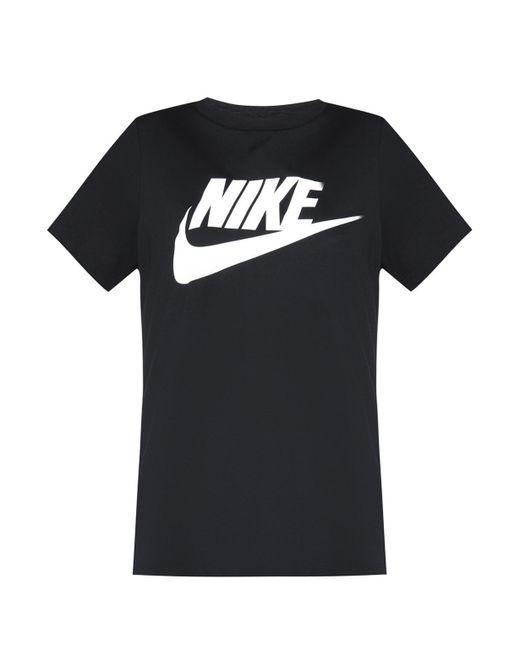 Nike - Black Logo Print T-shirt for Men - Lyst