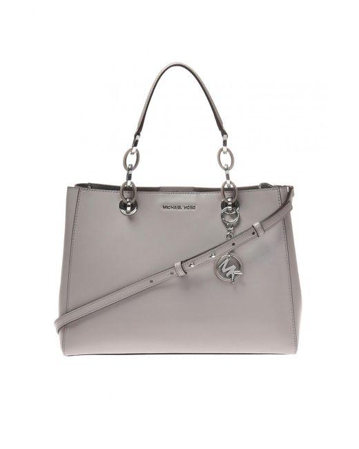 dd0dbdd62f19 Michael Kors - Gray  cynthia  Shoulder Bag - Lyst ...