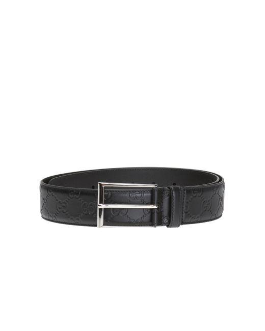 Gucci - Black Leather Belt for Men - Lyst