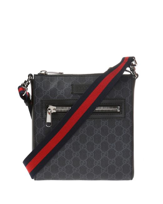 0c3e55452 Gucci GG Supreme' Canvas Bag in Black for Men - Save 10% - Lyst