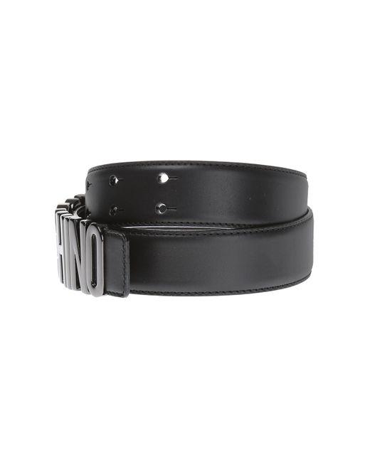 53d4d1bba6 ... Moschino - Black Logo Belt for Men - Lyst ...