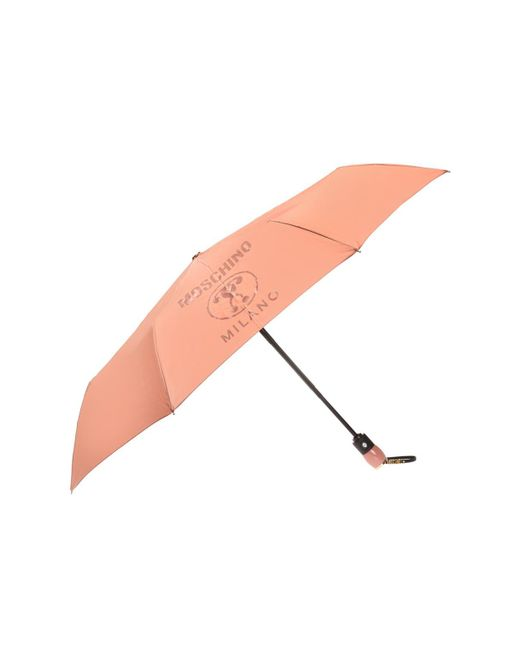 Moschino - Pink Folded Umbrella With A Print - Lyst