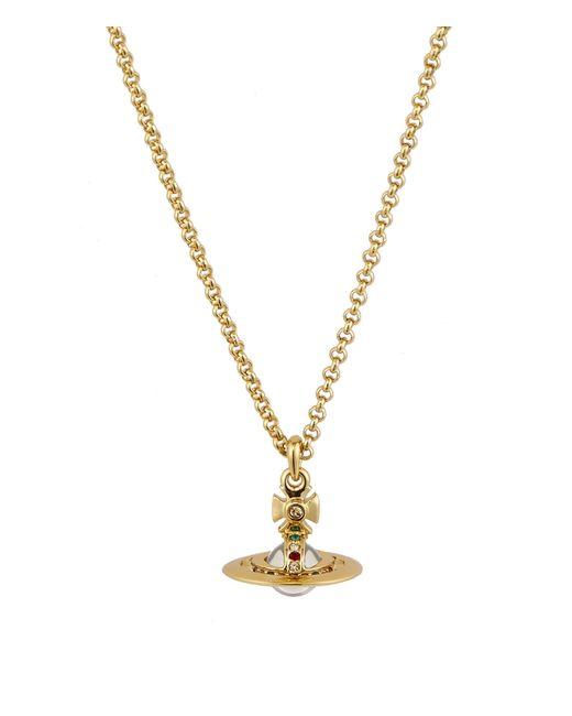 Vivienne Westwood | Metallic New Petite Orb Pendant Gold | Lyst