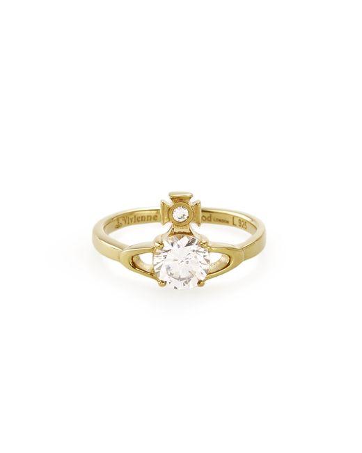 Vivienne Westwood   Metallic Sterling Silver Reina Petite Ring Gold   Lyst