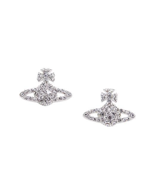 Vivienne Westwood | Metallic Grace Bas Relief Stud Earrings Crystal | Lyst