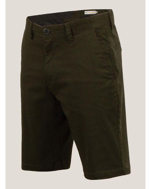 Volcom | Green Frickin Mod Stretch Shorts for Men | Lyst