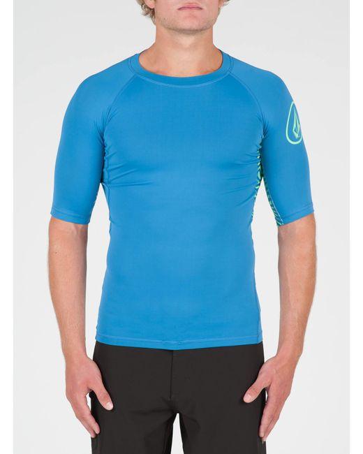 Volcom - Blue Vibes Short Sleeve Rashguard for Men - Lyst